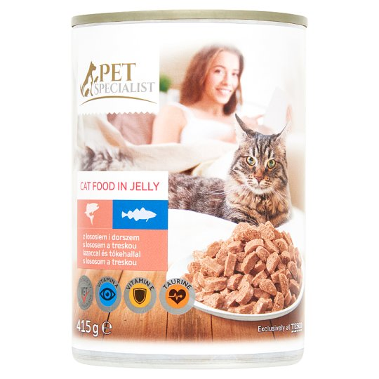 Tesco Pet Specialist Complete Cat Food in Sauce with Salmon and Cod 415 g
