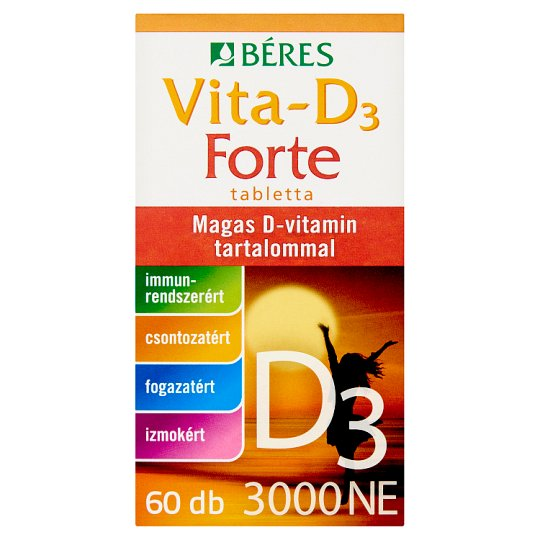 Béres Vita-D₃ Forte 3000 NE tabletta 60 db 10,2 g