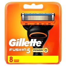 Gillette Fusion5 Power Razor Blades For Men, 8 Refills