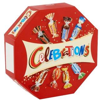 Celebrations vegyes töltött, kekszes és ostyás tejcsokoládé 186 g
