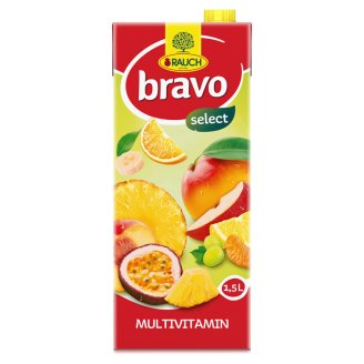 Rauch Bravo Mixed Fruit Drink with Sugar, Sweeteners and 9 Vitamins 1,5 l