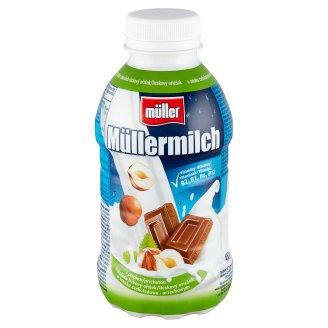 Müller Müllermilch csokoládé-mogyoró ízű zsírszegény ital 377 ml