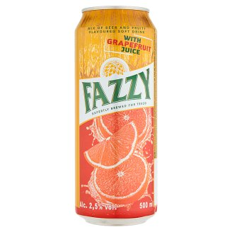 Fazzy Mix of Beer and Fruity Flavoured Soft Drink with Grapefruit Juice 2,5% 500 ml