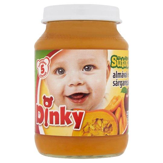 Dinky glutén- és tejszármazékmentes sütőtök almával és sárgarépával bébiétel 5 hónapos kortól 190 g
