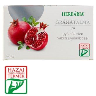 Herbária Pomegranate Flavoured Fruit Tea 20 Tea Bags 40 g