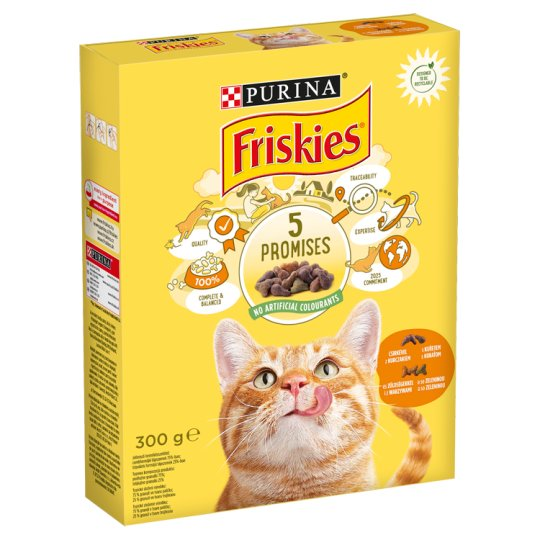 Friskies Complete Pet Food for Adult Cats with Chicken and Vegetables 300 g