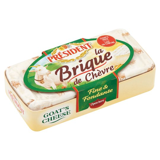 Président Brique de Chavre Fat, Light Goat Cheese 150 g