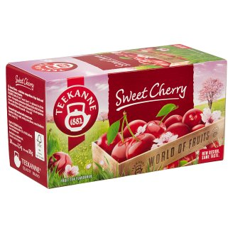 Teekanne World Of Fruits Cherry Flavoured Fruit Tea Blend 20 Tea Bags 50 g
