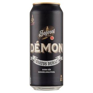 Soproni Óvatos Duhaj Démon minőségi barna sör 5,2% 0,5 l doboz