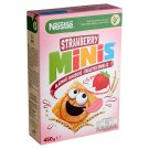 Nestlé Strawberry Minis Crunchy, Strawberry Flavoured Cereals with Whole Wheat 450 g