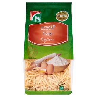 Tesco csiga 8 tojásos száraztészta 200 g