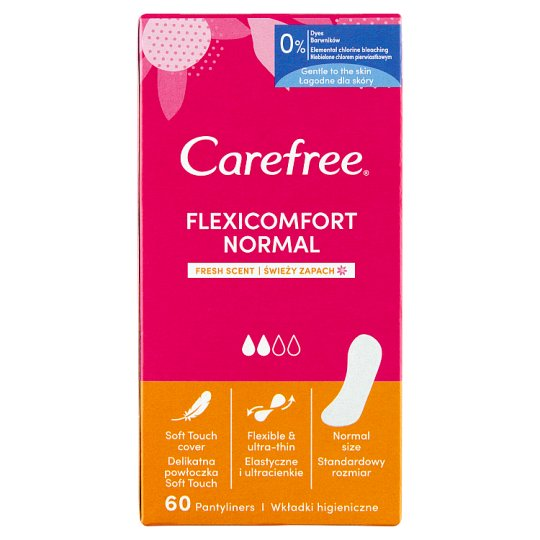 Carefree FlexiComfort Pantyliners with Fresh Scent 60 pcs
