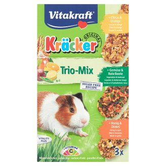 Vitakraft Kräcker Trio-Mix Citrus & Vegetable & Honey Complementary Food for Guinea Pigs 3 x 56 g