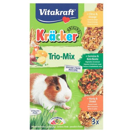 Vitakraft Kräcker Trio-Mix Citrus & Vegetable & Honey Complementary Food for Guinea Pigs 3 x 56 g