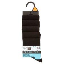 image 1 of F&F Men's Socks 5 Pack Black, 39-43