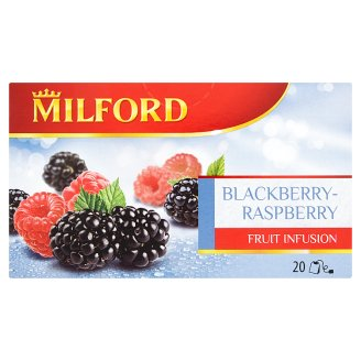 Milford Fruit Infusion Blackberry-Raspberry Flavoured Fruit Tea 20 Tea Bags 50 g