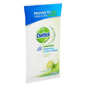 Dettol Lime & Mint Anti-Bacterial Cleansing Surface Wipes 36 pcs