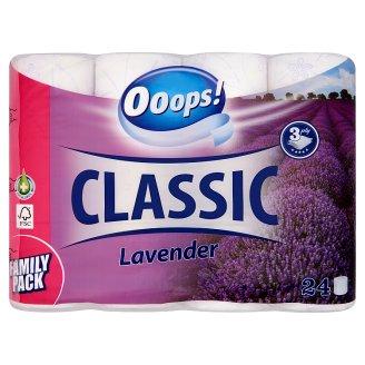 Ooops! Classic Lavender toalettpapír 3 rétegű 24 tekercs