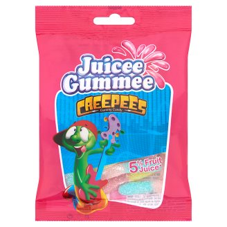 Juicee Gummee Creepees neon gumigiliszta gyümölcsös ízű gumicukor 80 g