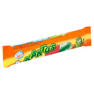 Nestlé Kaktus Lemon Flavoured Water-Base Ice Cream and Strawberry Ice Cream with Green Coat 45 ml