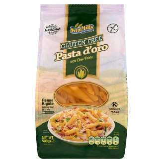 Sam Mills Pasta d'oro Penne Rigate Gluten-Free Dry Pasta from Corn 500 g