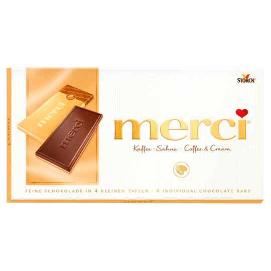 Merci Coffee-Milk Cream Flavoured Chocolate Bar 100 g
