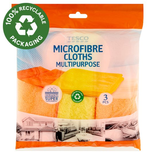 Tesco Multipurpose Microfibre Cloths 3 pcs
