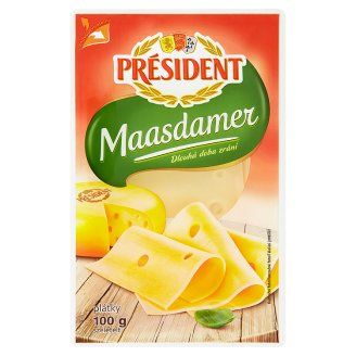 Président Maasdamer Sliced Cheese 100 g