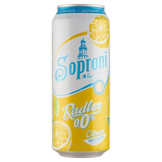 Soproni Radler Lemon Flavoured Non-Alcoholic Beer Drink 0,5 l Can