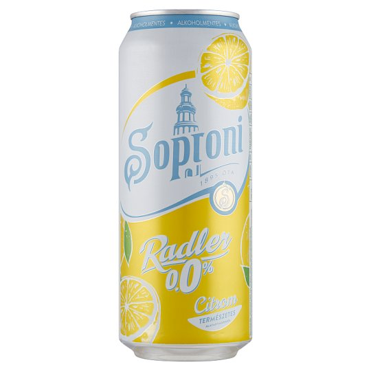 Soproni Radler citromos alkoholmentes sörital 0,5 l doboz