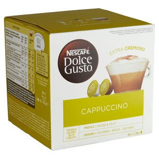 Nescafé Dolce Gusto Cappuccino Ground Roasted Coffee and Milk Powder with Sugar 2 x 8 pcs 186,4 g