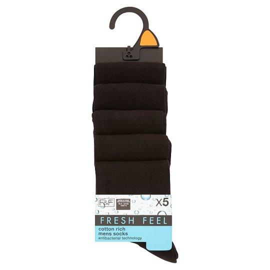 image 1 of F&F Men's Socks 5 Pack Black, 43-47