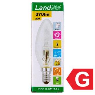 Landlite 375 lm 28 W E14 energiatakarékos halogén izzó