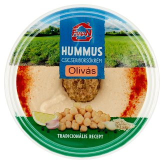 Fanan Hummus Chickpea Cream with Olives 250 g
