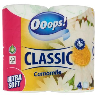 Ooops! Classic Camomile Toilette Paper 3 Ply 4 Rolls