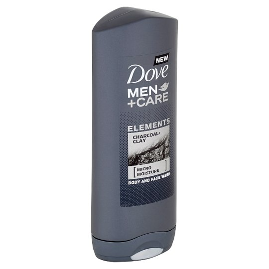Dove Men+Care Elements Charcoal+Clay Shower Gel for Body and Face 400 ml