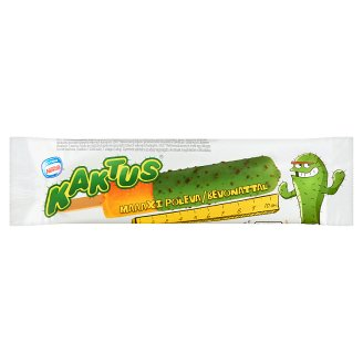 Kaktus Orange and Lemon Flavoured Water Ice Cream with Green Coating 40 ml
