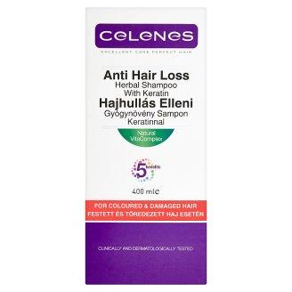 Celenes hajhullás elleni gyógynövény sampon keratinnal festett és töredezett hajra 400 ml