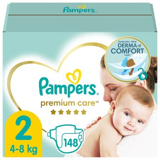 Pampers Premium Care Size 2 (Mini) 3-6kg, 148 nappies