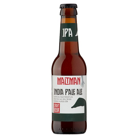 Maltman India Pale Ale Unfiltered IPA Type Premium Lager Beer 6% 0,25 l