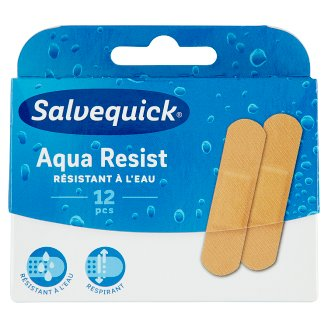 Salvequick Aqua Resist Water and Dirt-Resistant Plaster 12 pcs