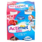 Danone Actimel Kids Low-Fat Raspberry-Cranberry Flavoured Yoghurt Drink with Live Culture 4 x 100 g