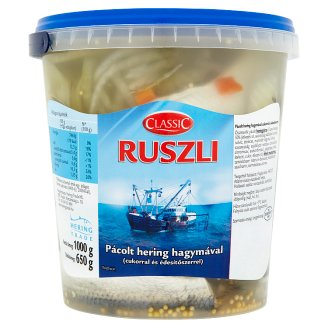 Classic Ruszli Marinated Herrings with Onion 1000 g