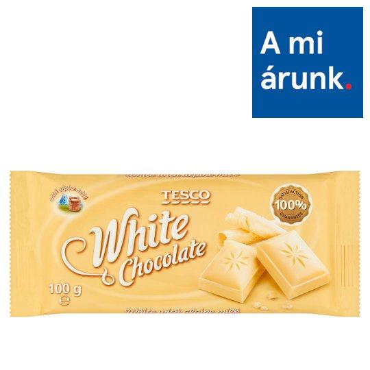 Tesco fehér csokoládé 100 g