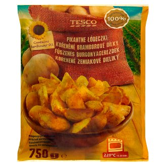 Tesco Quick-Frozen Pre-Fried Spicy Wedges 750 g