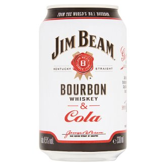 Jim Beam Bourbon Whiskey & Cola alkoholos üdítőital 4,6% 330 ml