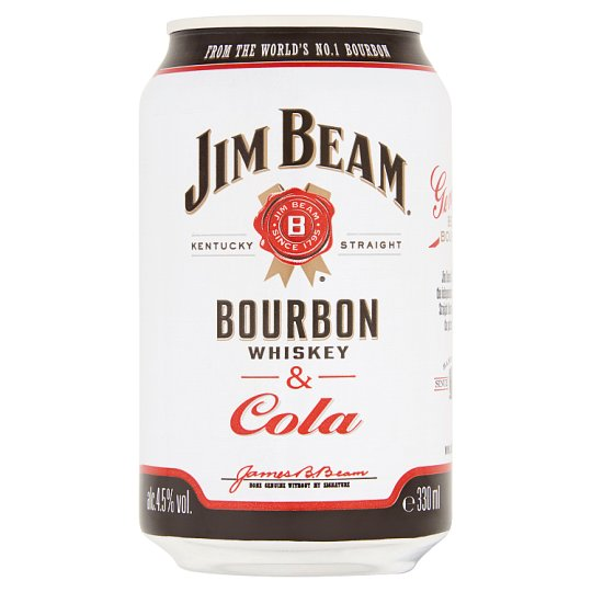 Jim Beam Bourbon Whiskey & Cola alkoholos üdítőital 4,6% 330 ml