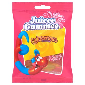 Juicee Gummee Wormees Fruit Flavoured Gums 80 g