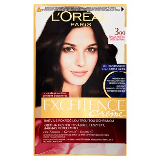 image 1 of L'Oréal Paris Excellence Creme 300 Dark Brown Permanent Cream Hair Colorant