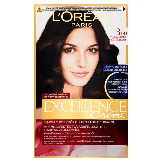 image 1 of L'Oréal Paris Excellence Creme 300 Dark Brown Permanent Cream Hair Colorant
